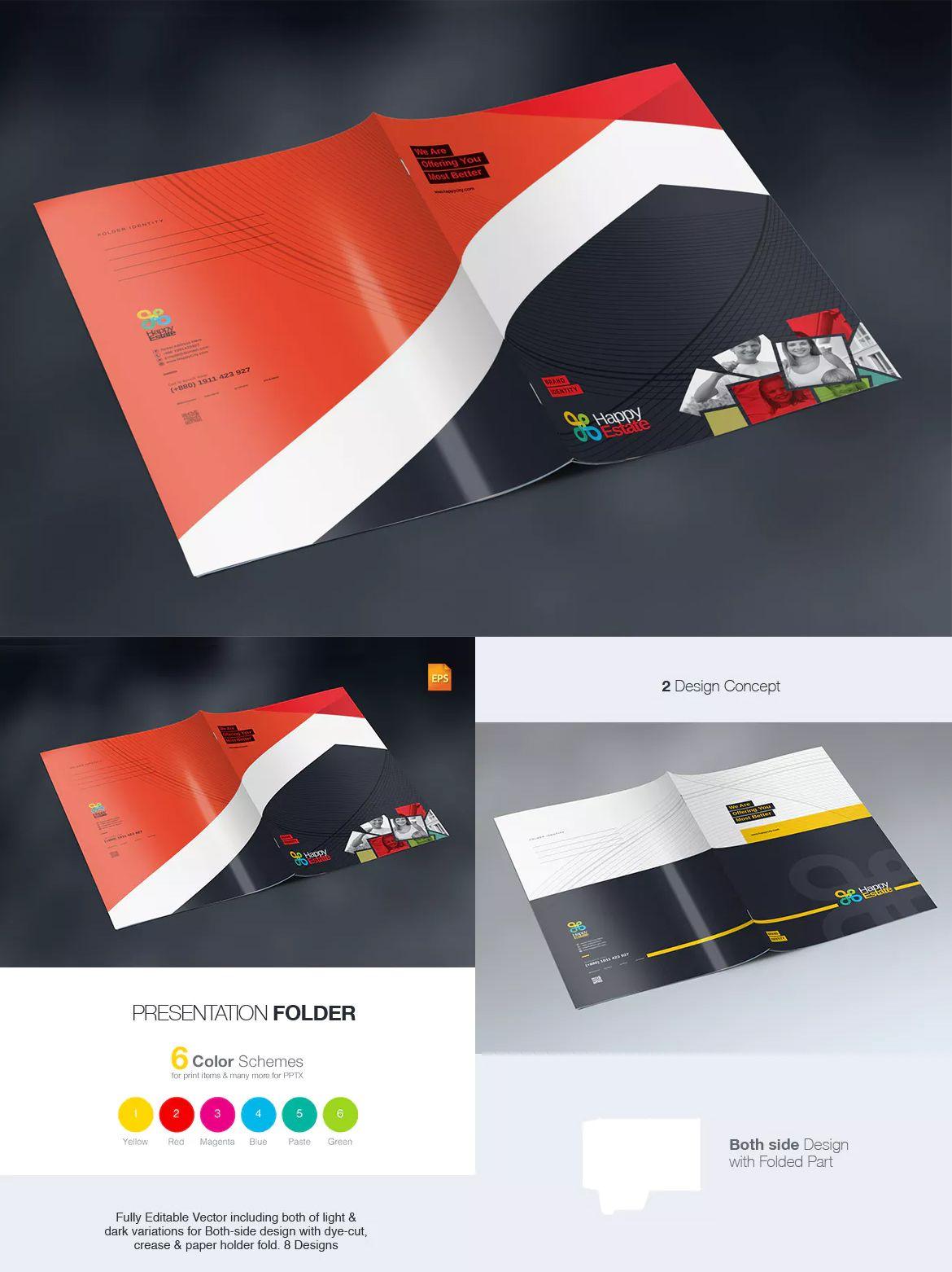 Multipurpose Presentation Folder Template EPS