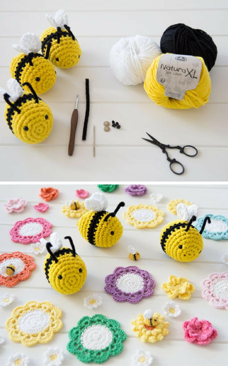 Crochet Amigurumi Bee Free Pattern   Crochet toys   Pinterest   Bee ...