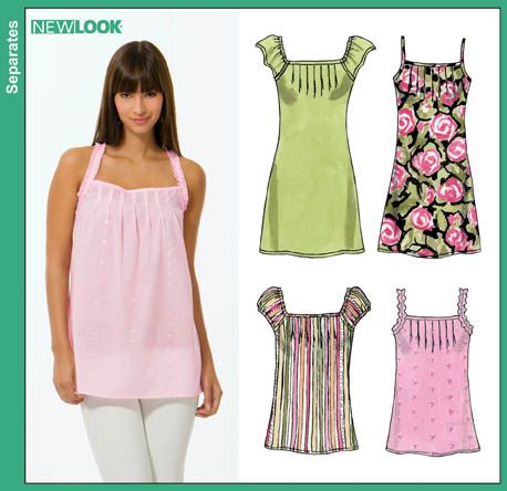 New Look 6806 from New Look patterns is a Misses Mini Dress, Tunic ...