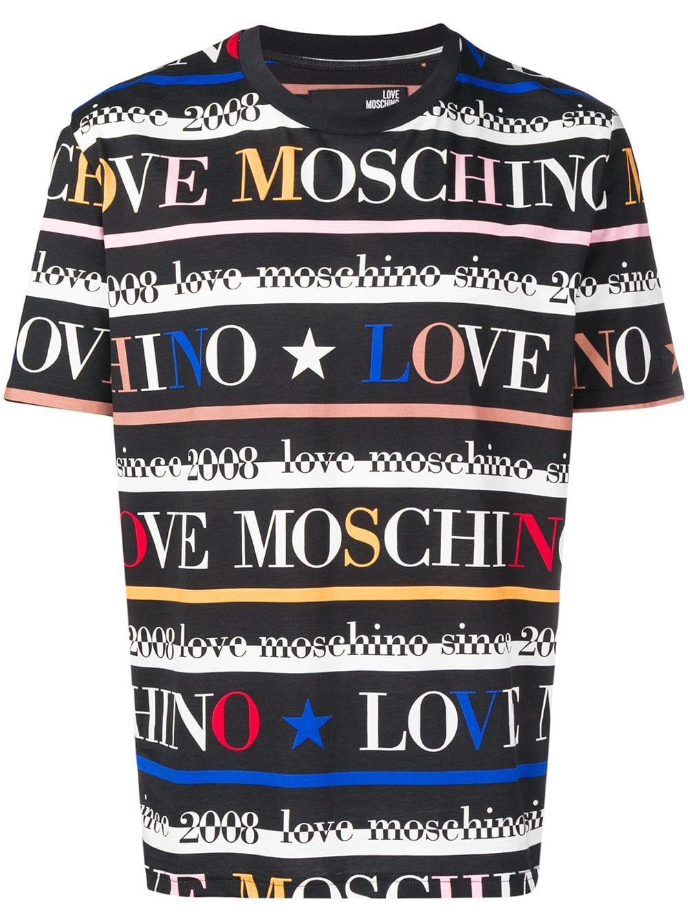 Logo Print T Shirt Moschino T Shirt Cotton Logo