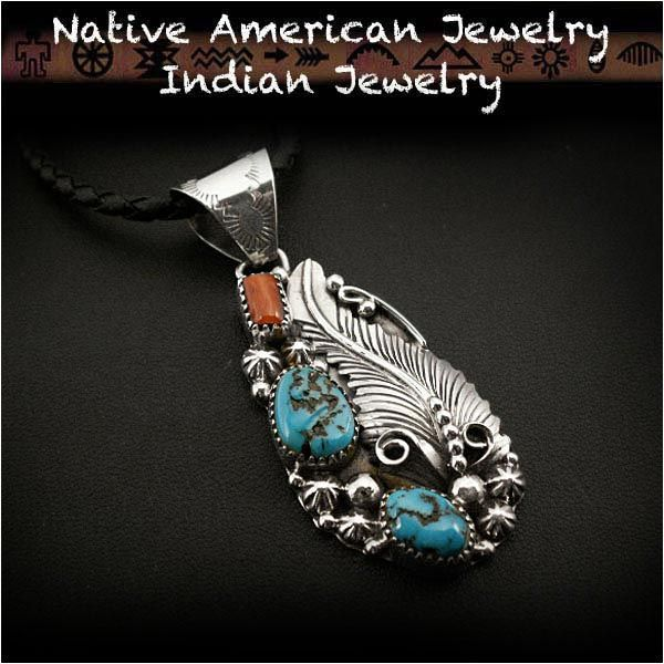 Native american indian jewelry sterling silver turquoise red native american indian jewelry sterling silver turquoise red coral pendant httpitem mozeypictures Gallery