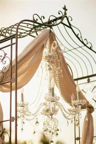 wrought iron wedding arch with fabric - Google Search