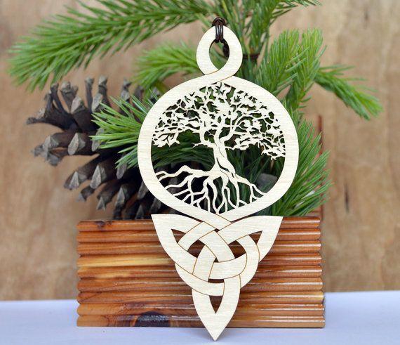 arbre de vie celtique noeud ornement gravure sur bois. Black Bedroom Furniture Sets. Home Design Ideas
