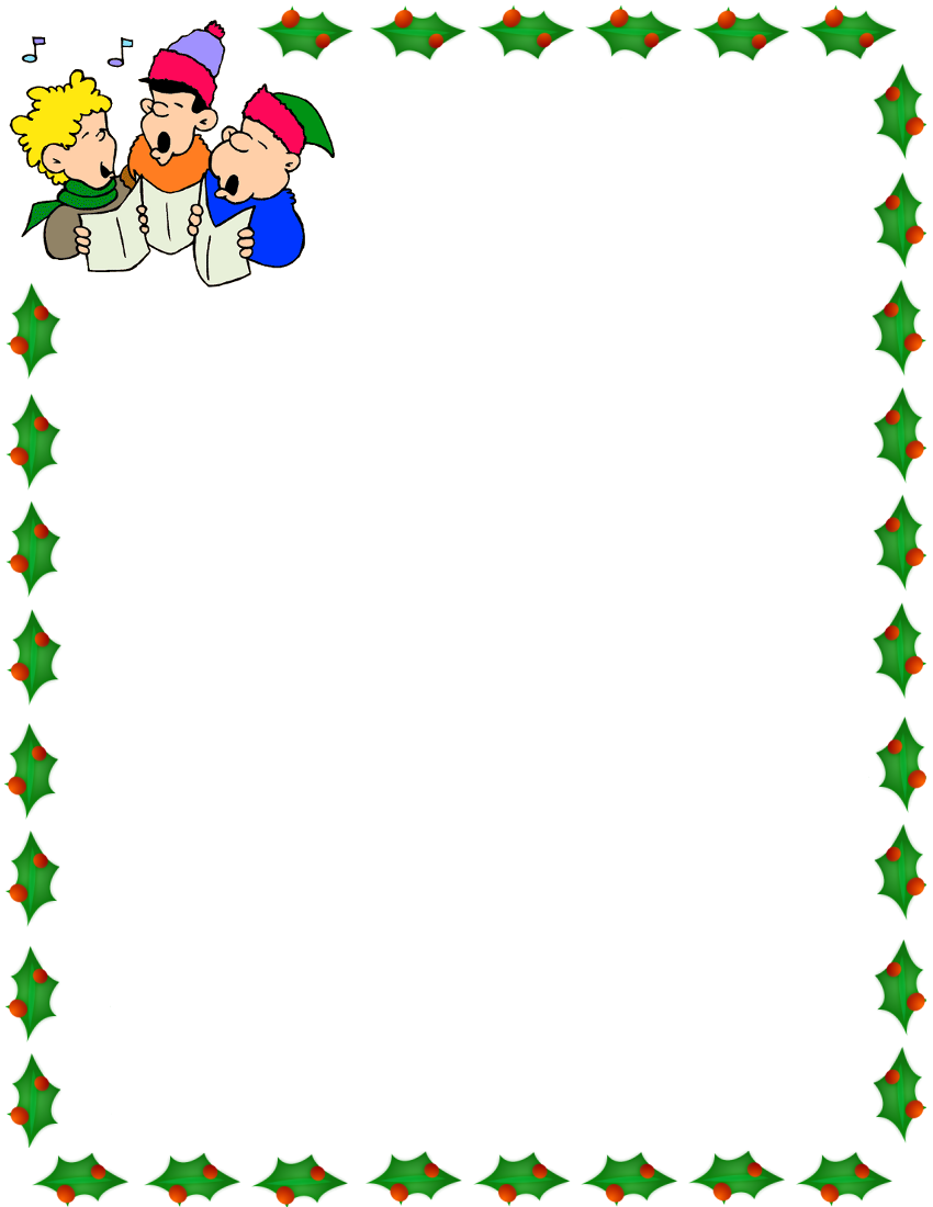 christmas carolers border | bordure -thèmes- | Pinterest ...