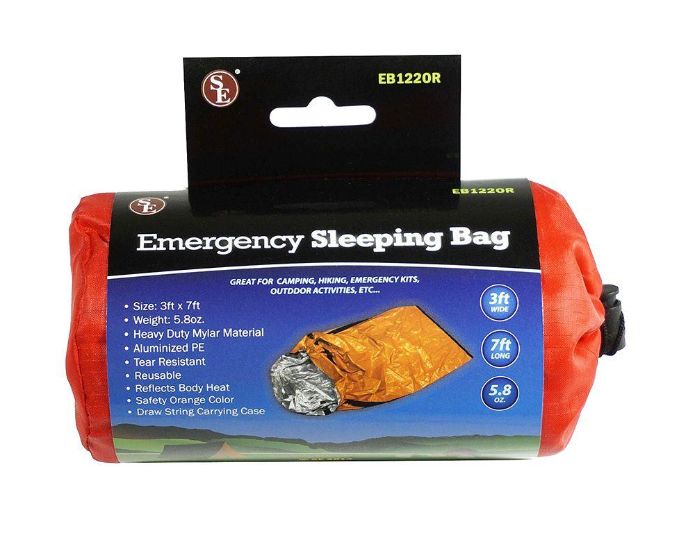 Sleeping Bag Emergency Thermal Survival Portable Drawstring Travel Camping