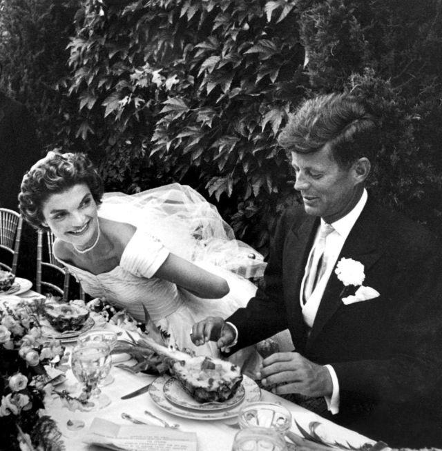 Jacqueline Bouvier and John F. Kennedy's wedding.