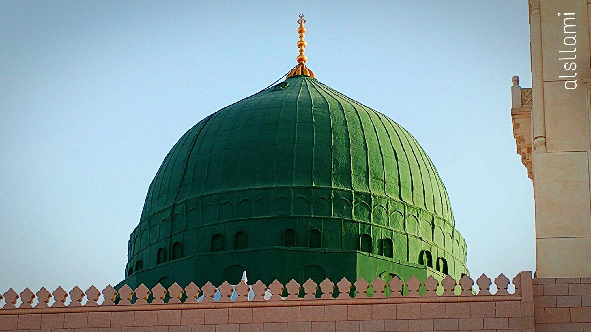 القبة الخضراء المدينة المنورة محمود السلامي Taj Mahal Landmarks Madina