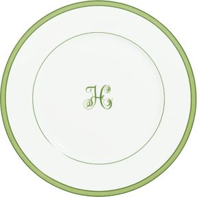 monogrammed dinnerware made of limoges porcelain | accented with apple green + an \  ...  sc 1 st  Pinterest & monogrammed dinnerware made of limoges porcelain | accented with ...