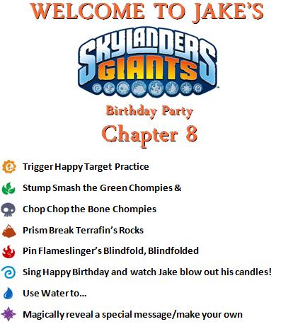 Skylanders Party Supplies UPrint at wwwSkylandsAndBeyondcom