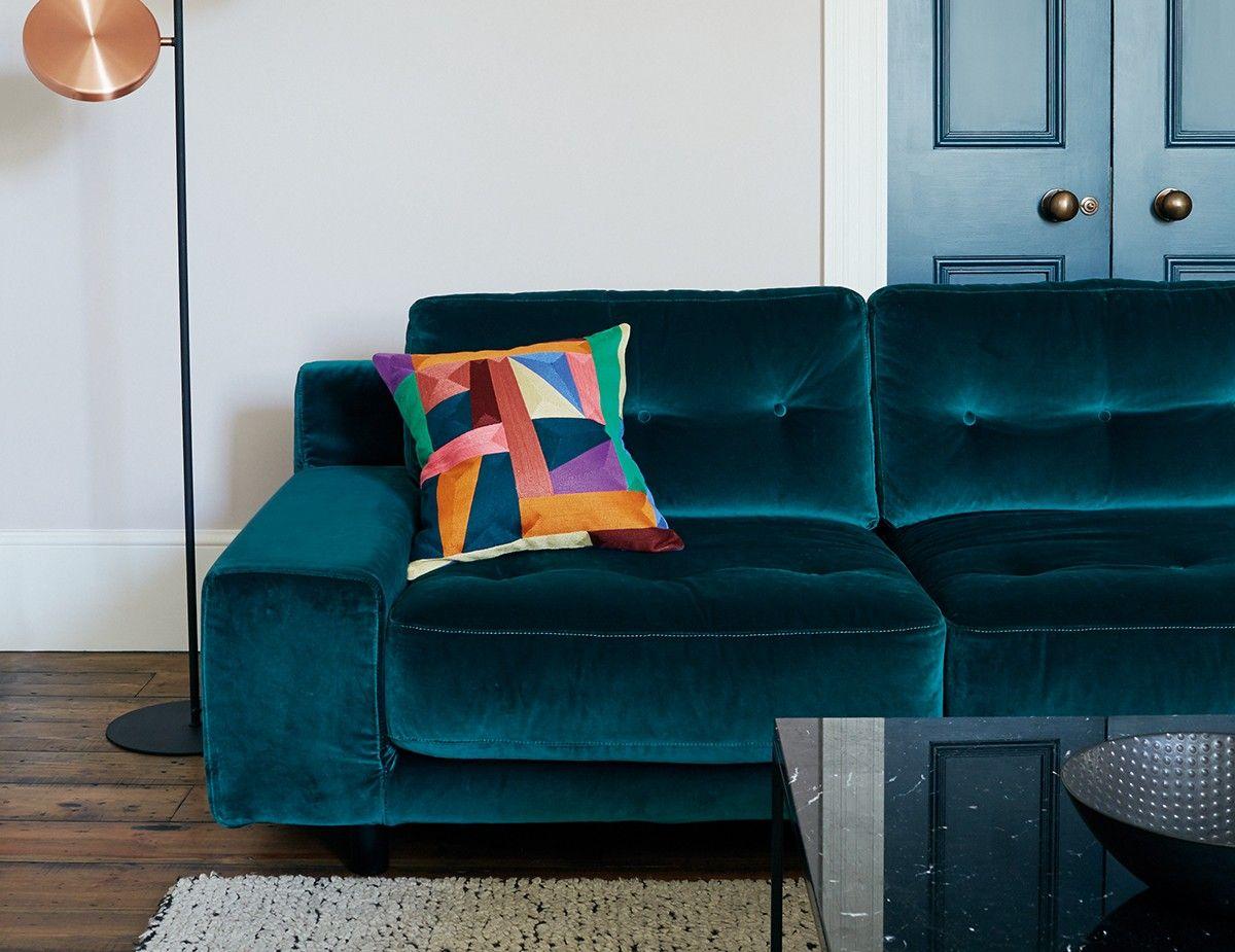 Hendricks Navy Velvet Buttoned Armchair Buy Sofa Velvet Corner Sofa Best Leather Sofa