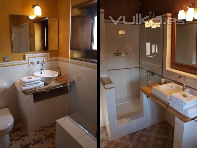 los baos son clidos y luminosos adems de espaciosos con grandes duchas de obra - Duchas Grandes