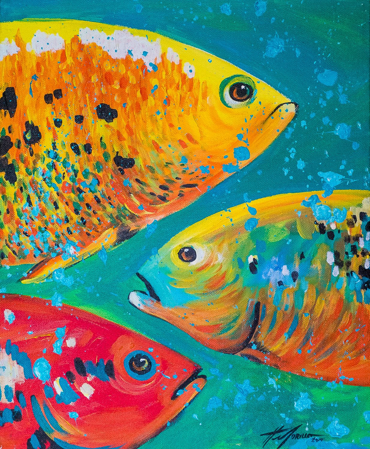 Felix murillo lleno de colores painting acrylic artwork fish art - Apariencia 2014 By Felix Murillo Painting Acrylic Acrylic Paint Used In Order To Give A Sense Of It Being Soft To The Touch