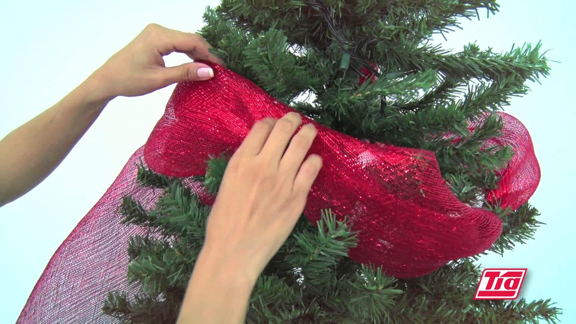 Todo Es Mas Facil Con Tia Como Decorar Tu Arbol De Navidad Arbol De Navidad Malla Cinta De Arbol De Navidad Decoracion Arbol De Navidad
