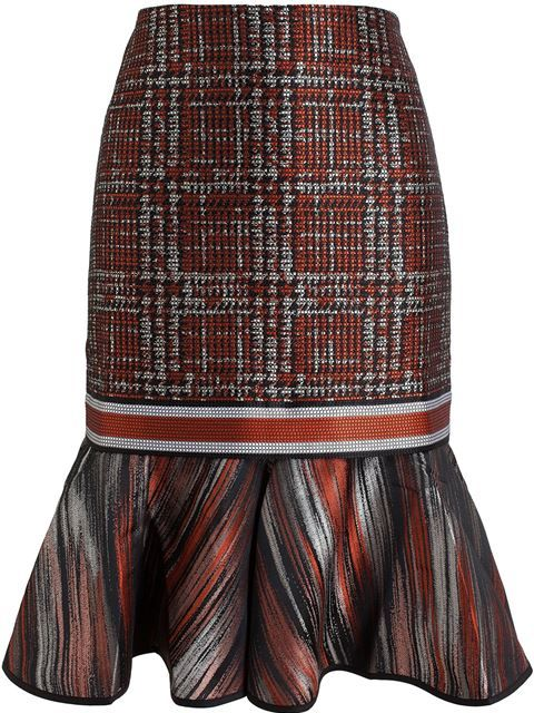 Shop Ostwald Helgason Pixel Tweed Jacquard Skirt in Browns from the world's best independent boutiques at farfetch.com. Over 1000 designers from 60 boutiques in one website.