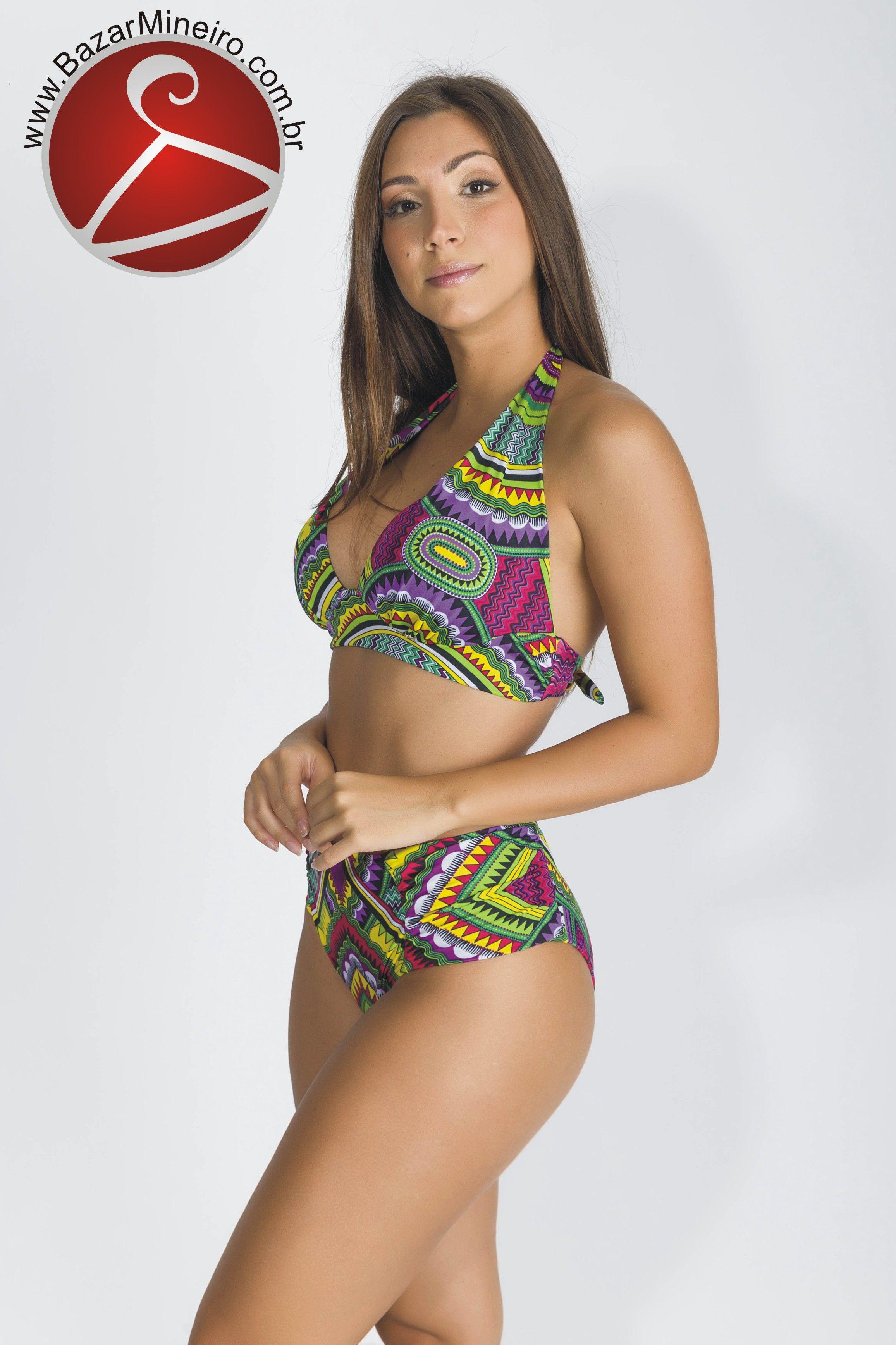 69780a7b0348 Biquíni Cortinão Plus Size - Mandala - Verão 2018 - Tecido com fio de Lycra®