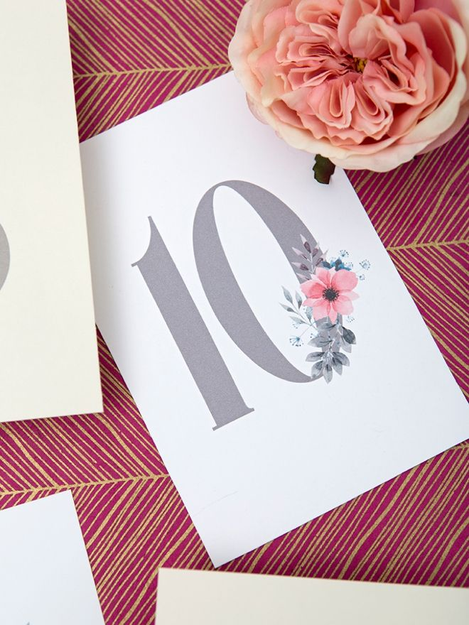 graphic regarding Free Printable Wedding Table Numbers named Print This sort of Darling Floral Desk Figures For Your Marriage
