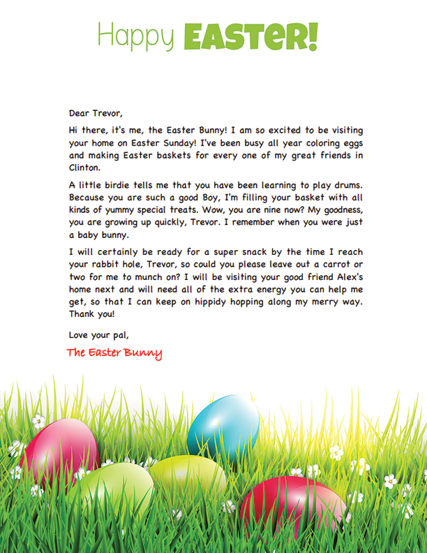 Free easter bunny letter easter pinterest easter for Letter to easter bunny template