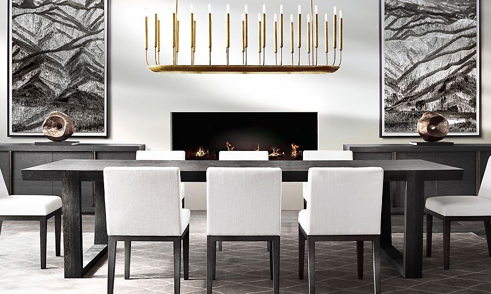 lusting after rh modern dining room decor ideas. Black Bedroom Furniture Sets. Home Design Ideas