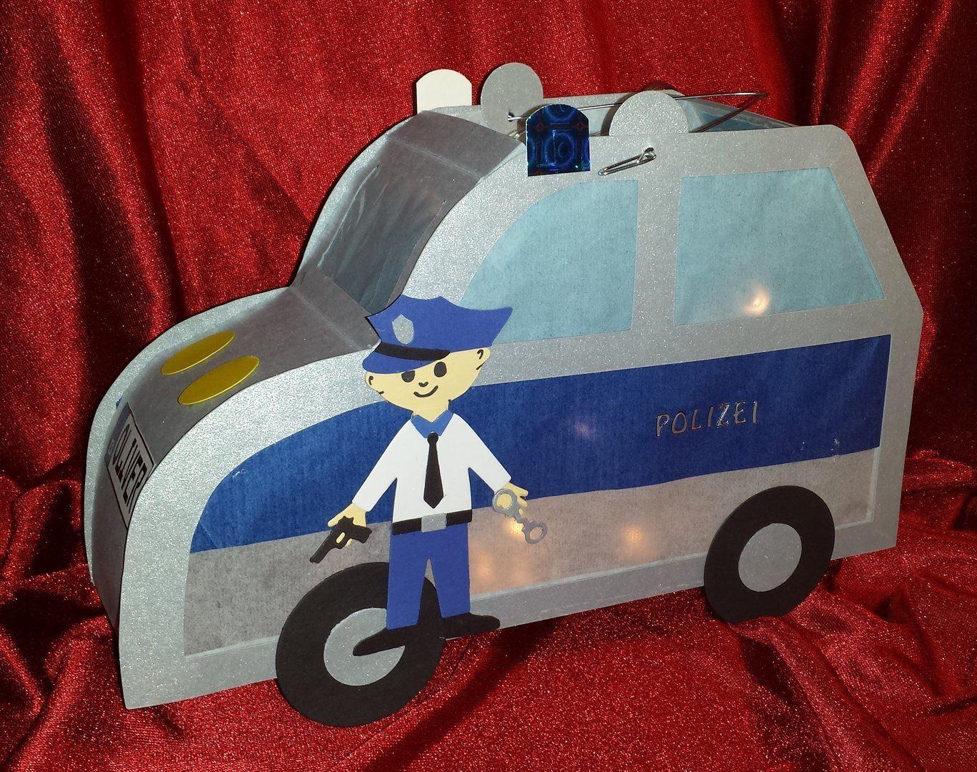 Laterne Polizeiauto | Laterne | Pinterest | Polizeiautos, Laternen ...