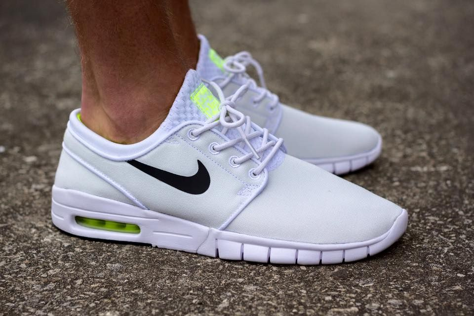 brand new 84972 06739 Nike SB Janoski Max  White Volt  (via Kicks-daily.com)