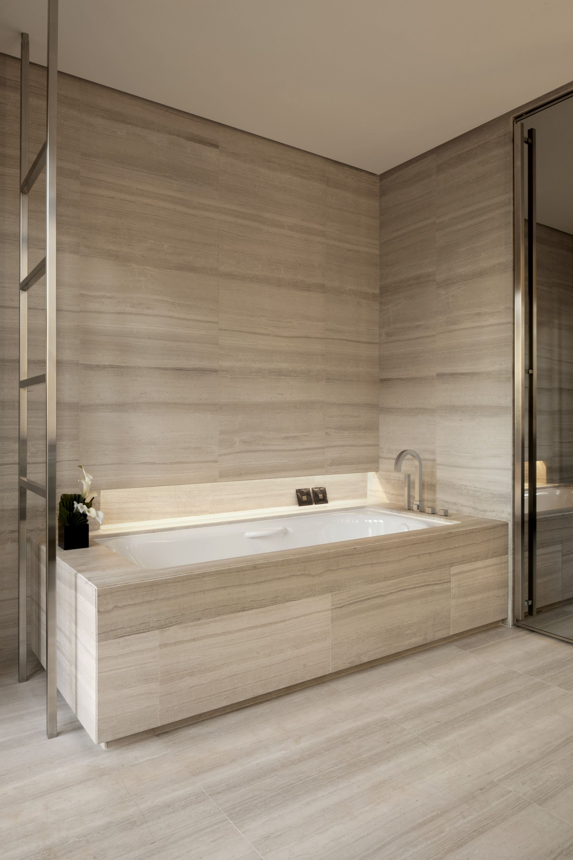 armani hotel milano_bathrooms in silk georgette stone. | bathroom