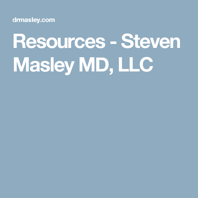 steven masley shares his favorite resources for healthy living with organic foods and other products to help you create a healthy lifestyle