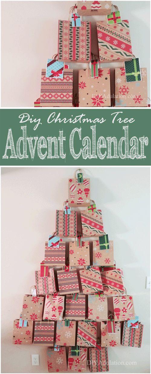 DIY Christmas Tree Advent Calendar Diy christmas tree, DIY