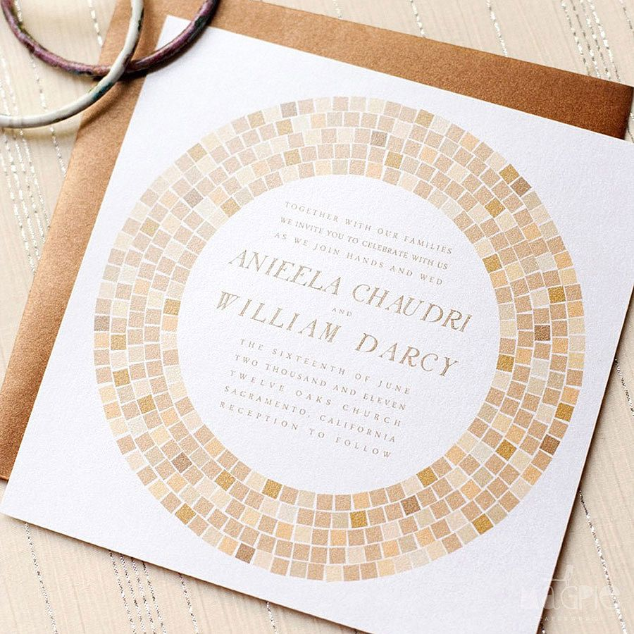 Mosaic Tile Invites Invitations Pinterest