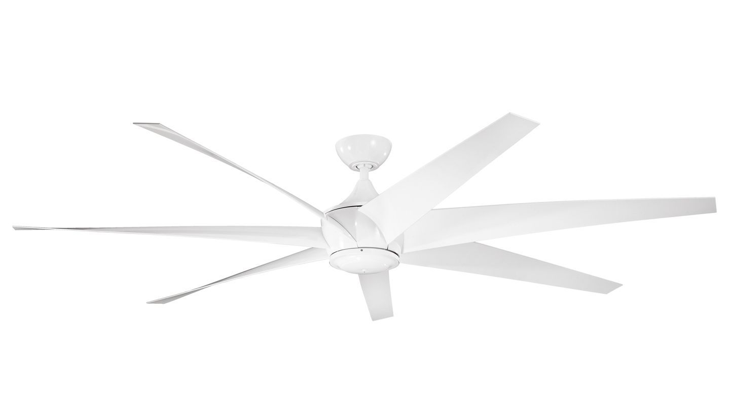 Kichler 310115 80 outdoor ceiling fan with blades downrod and kichler 310115 80 outdoor ceiling fan with blades downrod and remote control white fans ceiling fans aloadofball Images