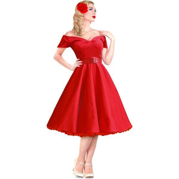 Dee Dee  Red 50s Style Vintage Full Circle Dress - British Retro ( 81 c3d81c426