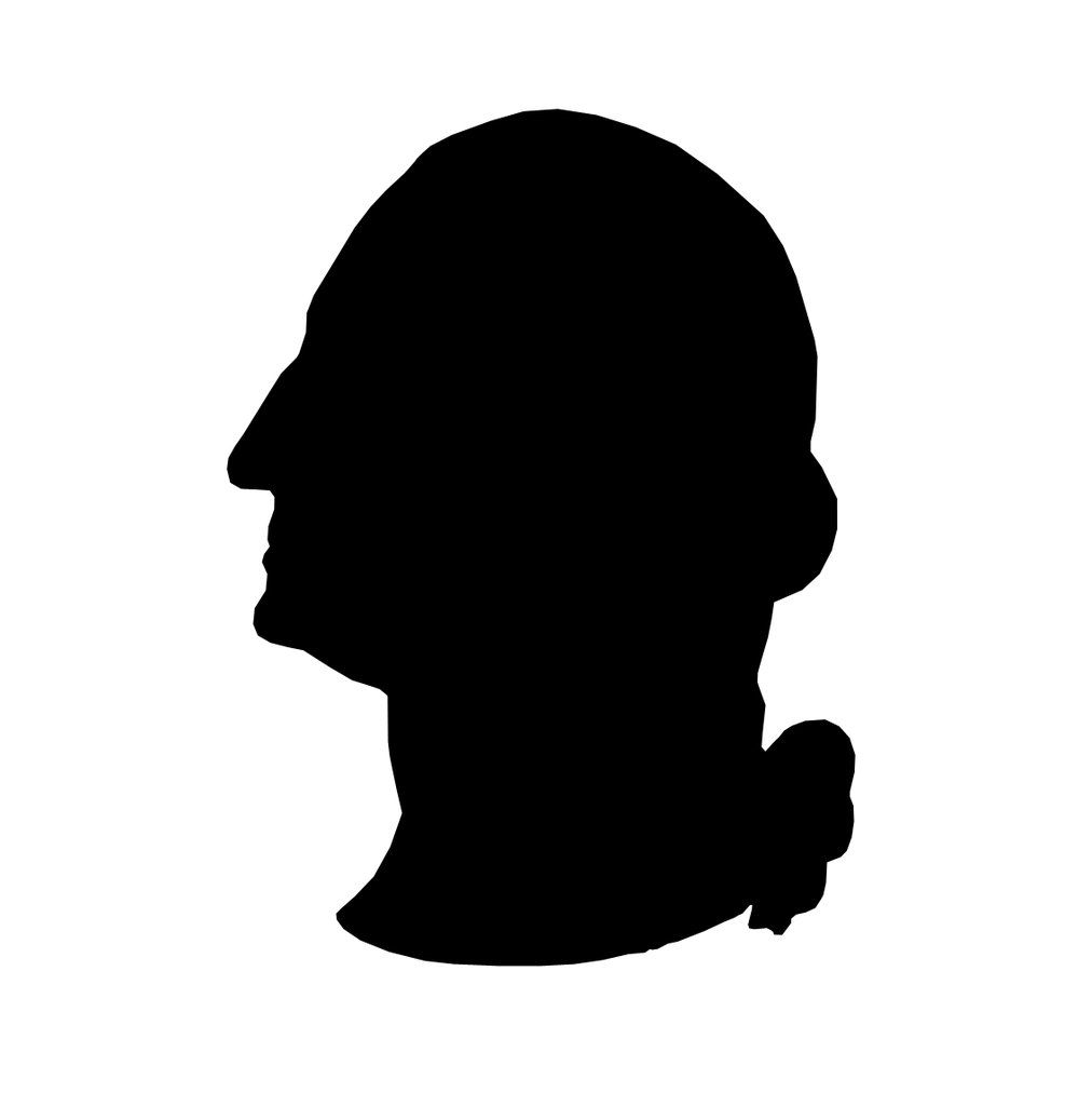 George Washington silhouette stencil template