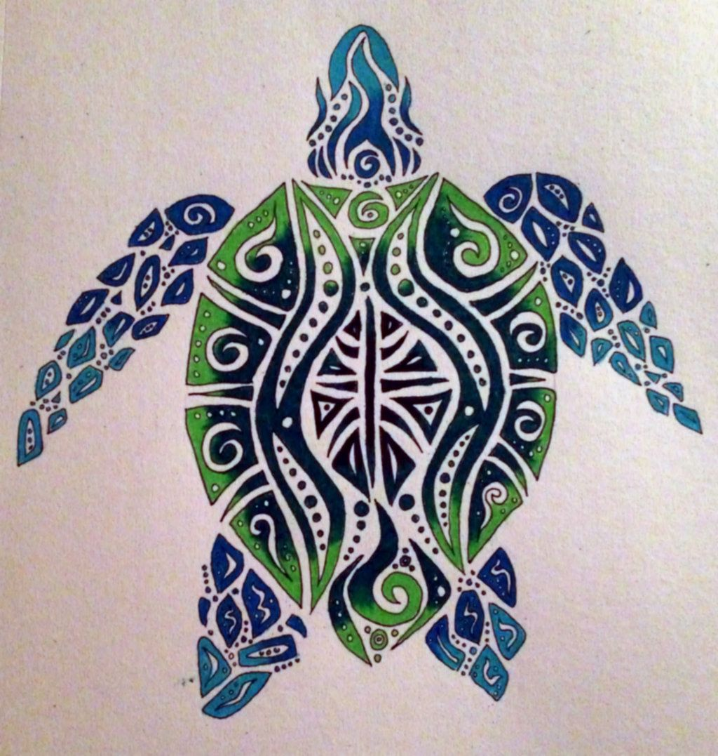 I Really Like The Colors And Art But Would Want A Different Angle Of The Turtle Tribal Sea Turtle By The With Images Girl Thigh Tattoos Shoulder Tattoo Free Tattoo Designs