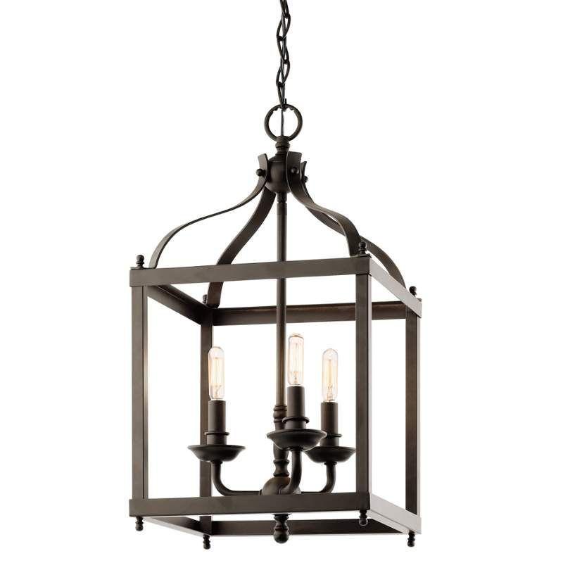 Kichler 42566aco antique copper larkin 3 bulb indoor pendant lightingdirect com 248 00 chandelier lightinghallway