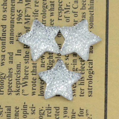 100pcs-White-Resin-Bling-Starry-Stars-Flatback-Cabochon ...