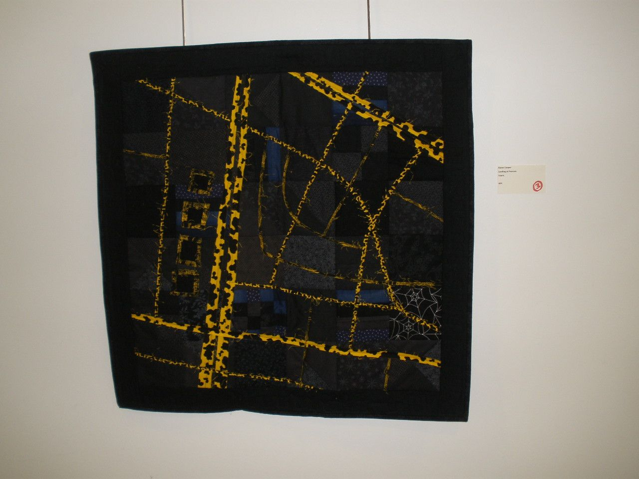 """Landing at Pearson"" by Karen Cooper, Etobicoke Quilters' Guild"