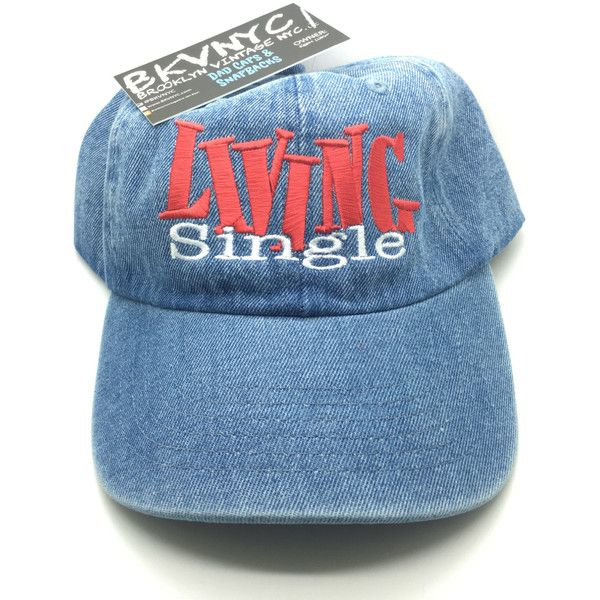 Denim Living Single Sitcom TV Show Dad Cap Hat ( 35) ❤ liked on Polyvore  featuring accessories 73e69b52ad7