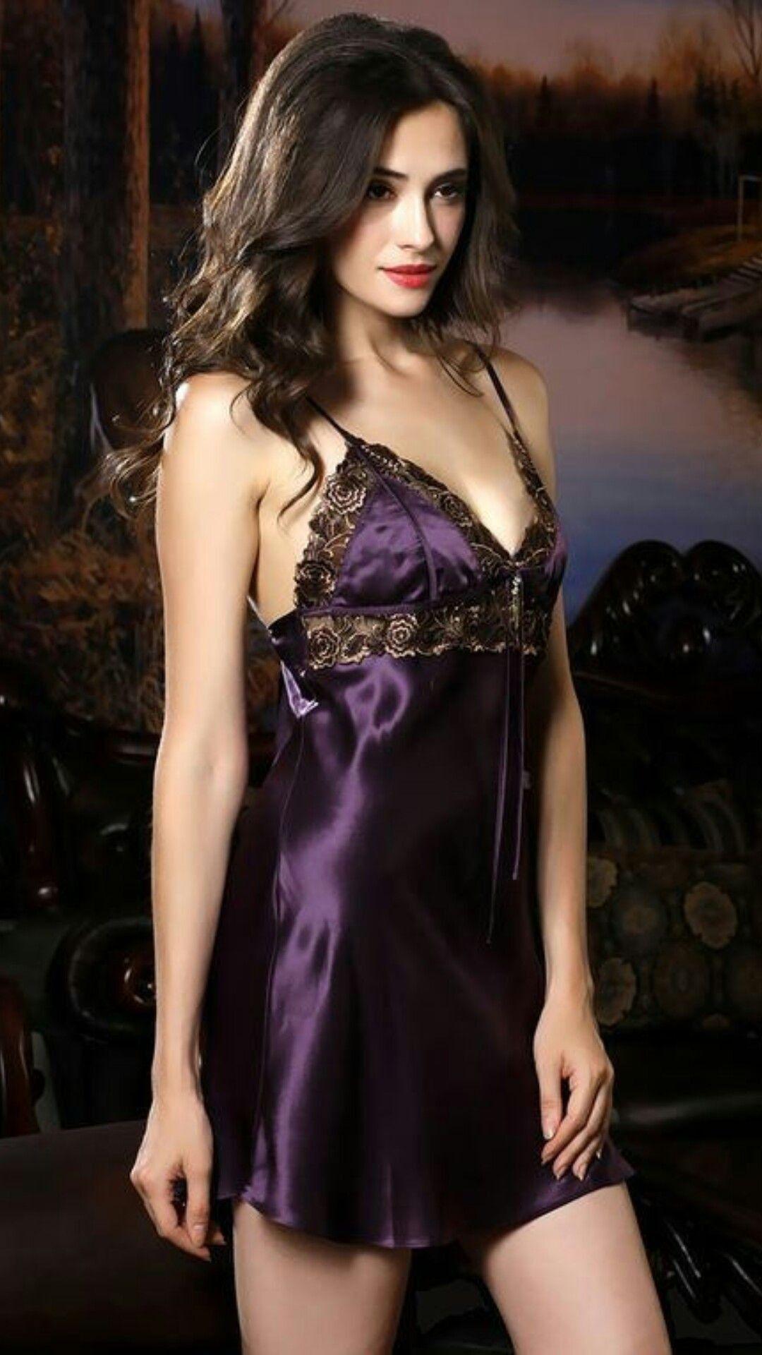 Andrea Crossdresser Absolutely Stunning In 2018 Pinterest Magic Eve Bra With Design Expert Victorian Style Hitam Purple Lingerie Sexy Dress Slips Satin