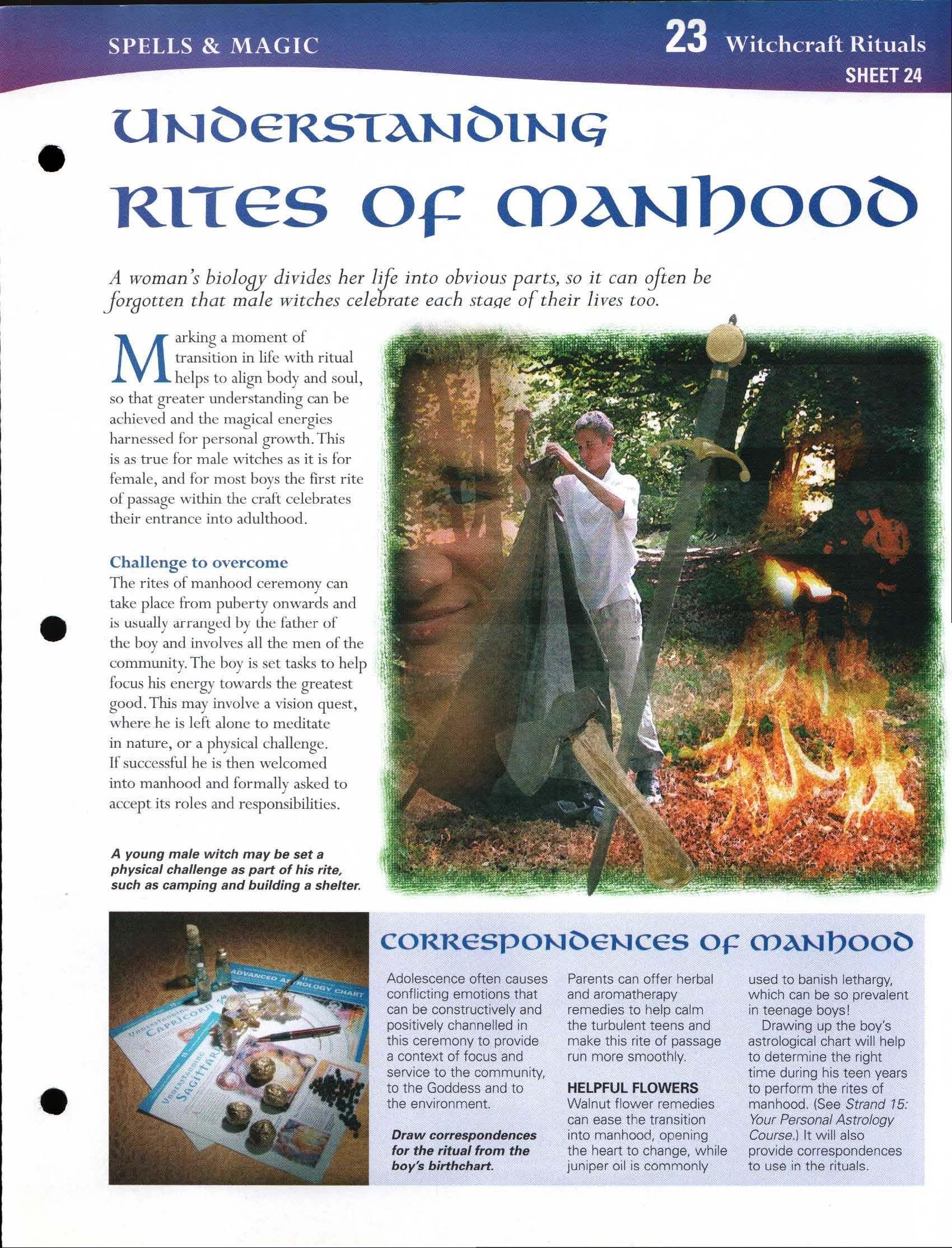 Understanding Rites of Manhood   My Magickal Path   Wiccan