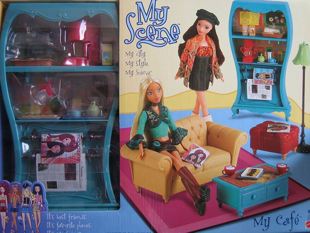 2003 Barbie Doll My Scene Daily Dish Cafe Playset Coffee Shop Furniture Lot