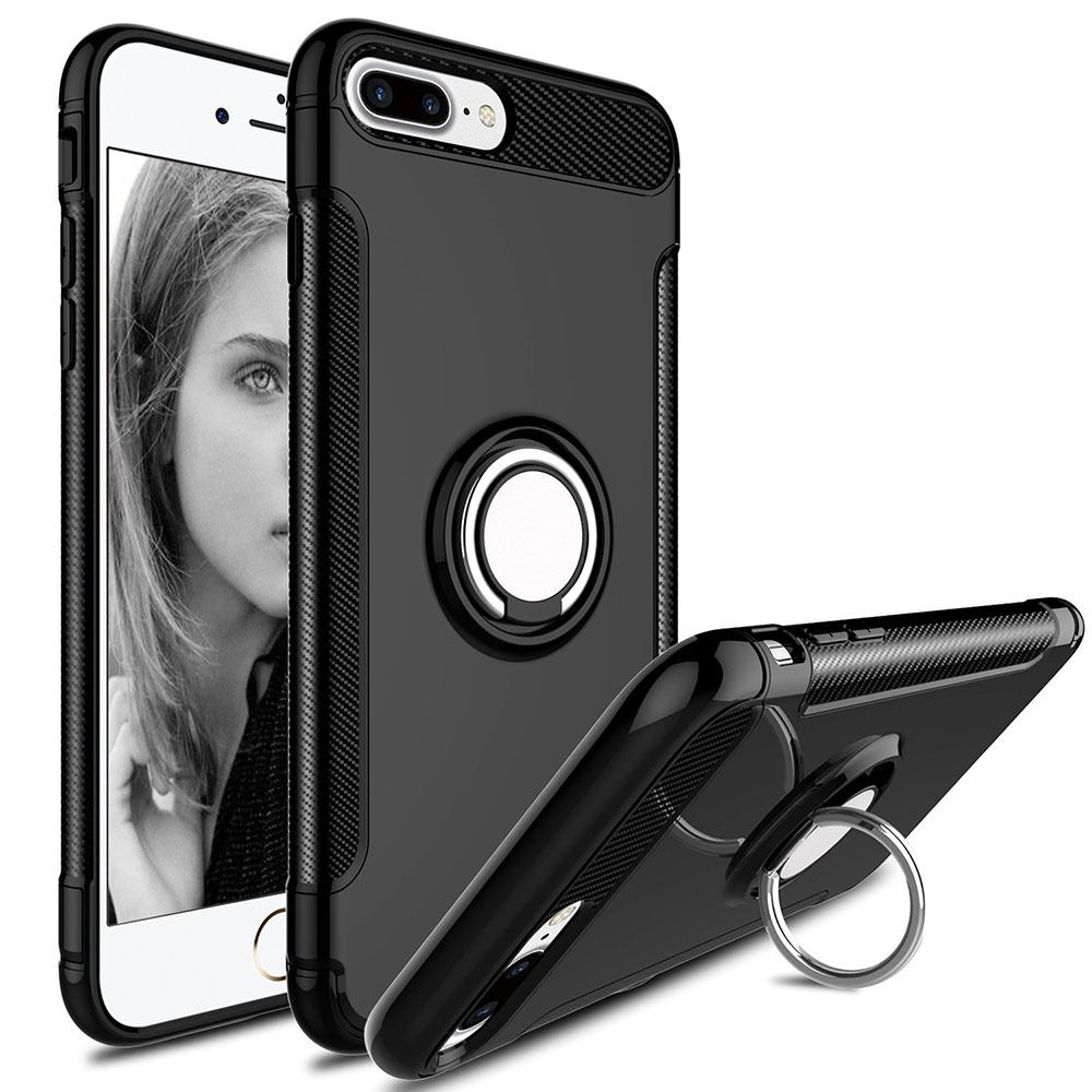 Black iphone 7 plus iphone 8 plus protective 360 degree