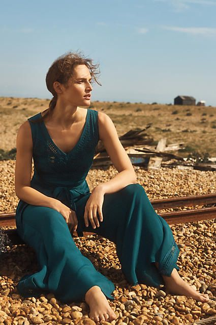 Sabine Wrapped Jumpsuit - anthropologie.eu    Elevenses is a label exclusive to Anthropologie which evokes a mood of modern elegance by drawing upon vintage references. The label features finely tailored classics that play with colour, shape and detailing.
