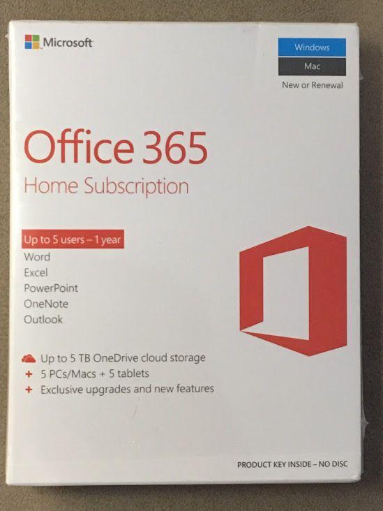 Microsoft office 365 home premium 1 year subscription key card ...