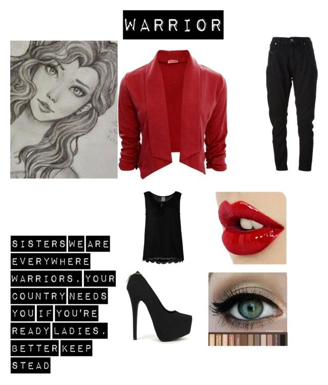 asami by dary-andree on Polyvore featuring Vero Moda, Diesel Black Gold and Fahrenheit