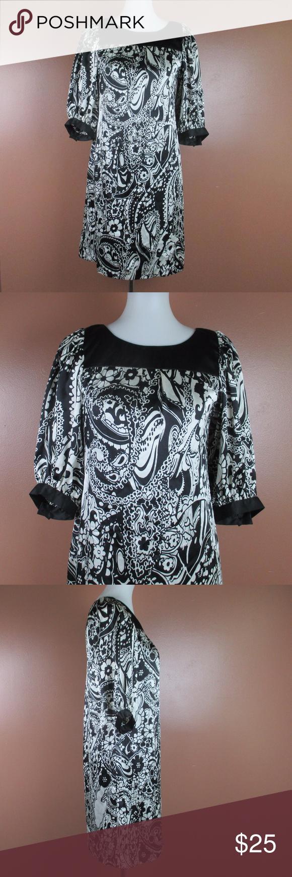 dressbarn dress tunic paisley black white paisley print and tunics