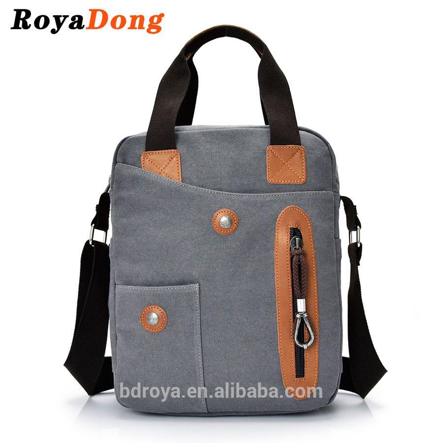 e179a1d7abb1 RoyaDong Men's Shoulder Bags High Quality Vintage Canvas Small ...