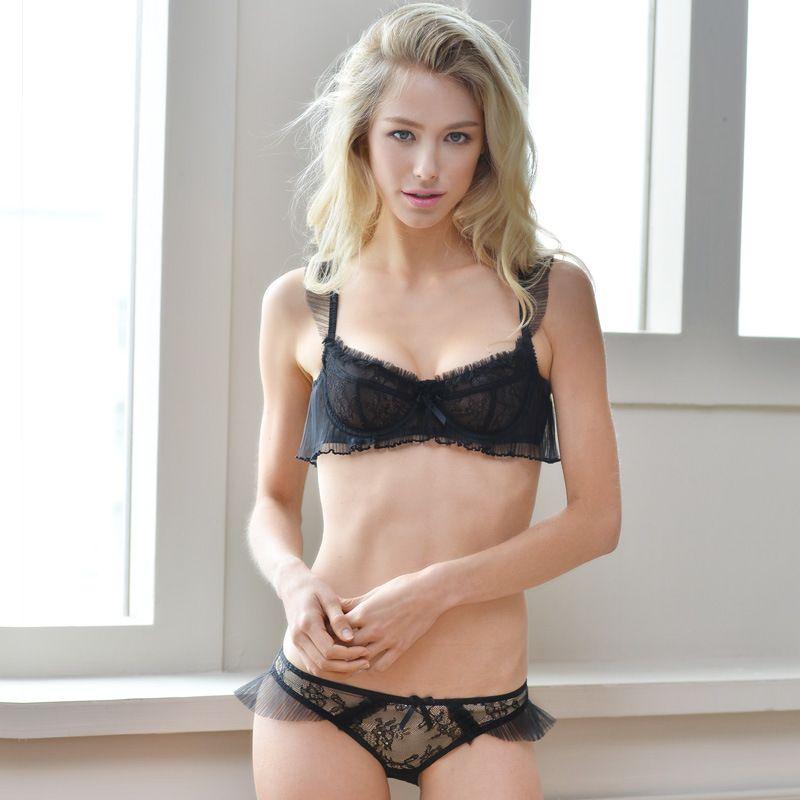 eaf261226b30c Sexy Net Yarn Transparent Wireless Bra Lingerie Bra Sets. lingerie sets,  bras, bustiers, corsets, panties