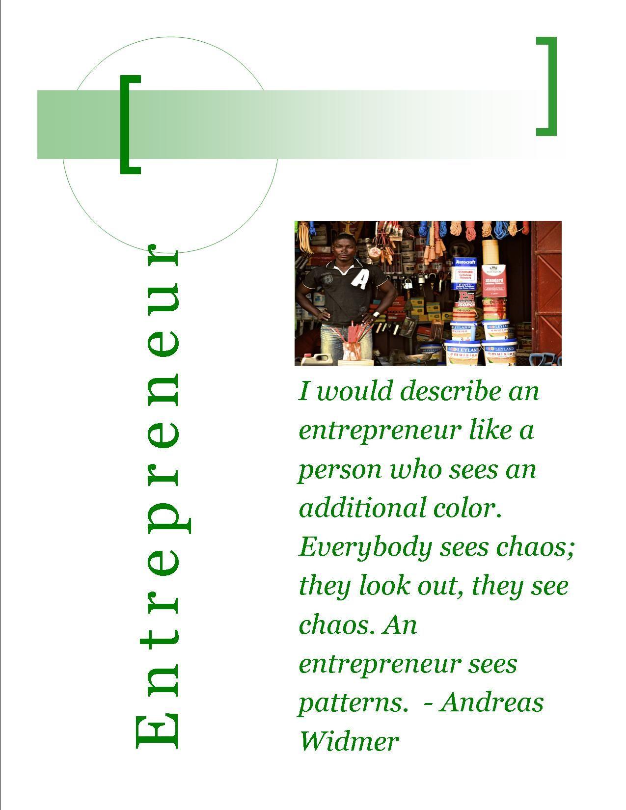 Povertycure Issues Entrepreneurship