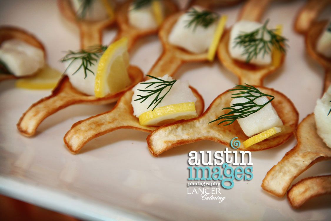 Edible spoons appetizers mahimahi lancercatering for Edible canape spoons