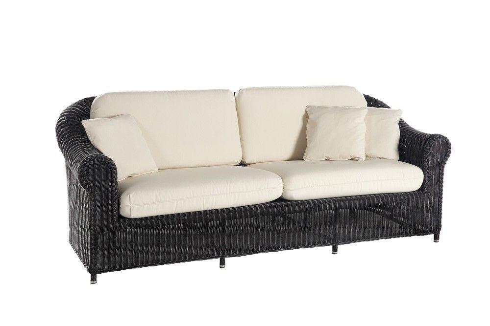 Sofá Brumas negro de Point www.thoiti.com | muebles de rattan ...