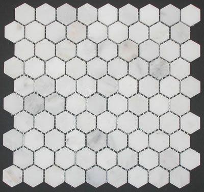 Marble Hex Tile Mosaic In Honed Statuary White Tilehaus Marble Bathroom Floor Bath Remodel Bathroom Floor Tiles